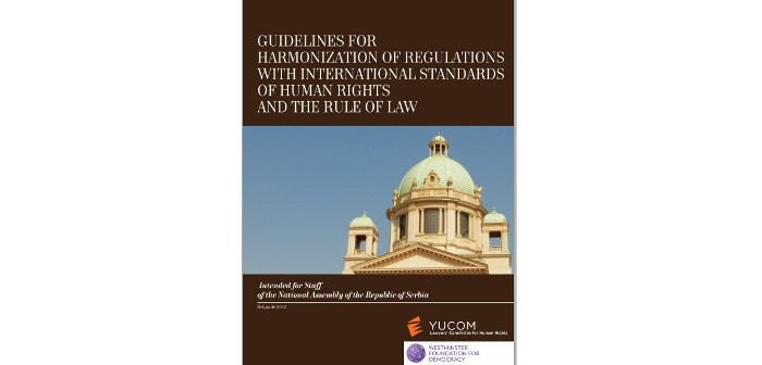 GUIDELINES FOR HARMONIZATION OF REGULATIONS