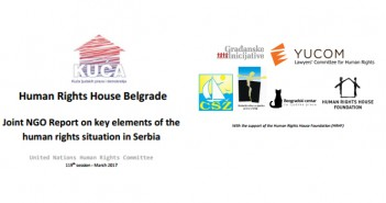 JointNGO ReportonkeyelementsofthehumanrightssituationinSerbia