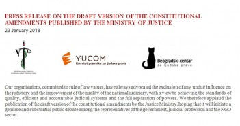 PRESS RELEASE ON THE DRAFT VERSION OF THE CONSTITUTIONAL AMENDMENTS PUBLISHED BY THE MINISTRY OF JUSTICE