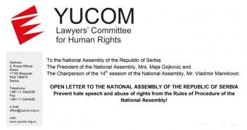 Open letter to the National Assembly regarding the statements of Vojislav Seselj
