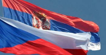 Czech-Serbian flag