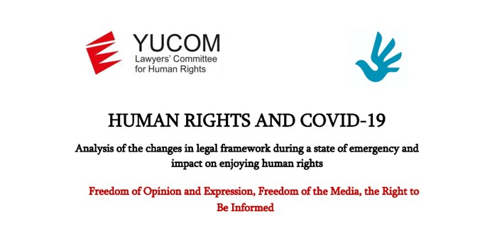 HUMAN RIGHTS AND COVID-19 – Freedom of Opinion and Expression, Freedom of the Media, the Right to Be Informed