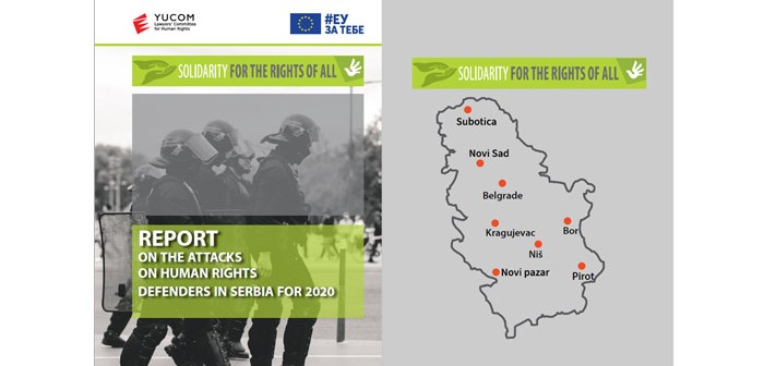 REPORT ON THE ATTACKS ON HUMAN RIGHTS DEFENDERS IN SERBIA FOR 2020