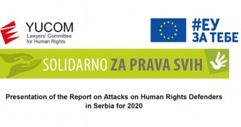 Presentation of the Report on Attacks on Human Rights Defenders in Serbia for 2020